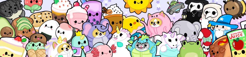 Banner of assorted Squishables.